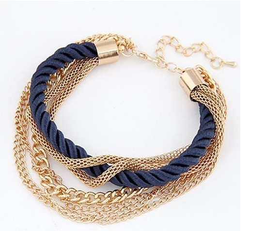 2015 мода популярные низкий ключ роскошный металлическая цепь плетеная веревка многослойные браслет ножные браслеты для женщин