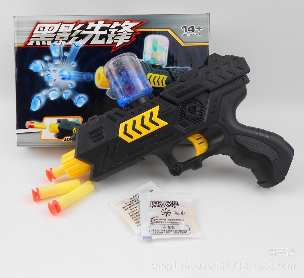 Гаджет  NEW FUN!CS Game Shooting Water Crystal Gun 2-in-1 Nerf Air Soft Gun Airgun Paintball Gun Pistol & Soft Bullet Gun Plastic Toys None Игрушки и Хобби