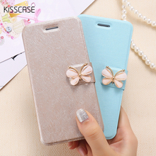 Buy KISSCASE Wallet Card Slot Stand Flip Leather Case iPhone 6 6S 7 7 Plus Bling Diamond Butterfly Bow knot Mobile Phone Cover for $3.79 in AliExpress store