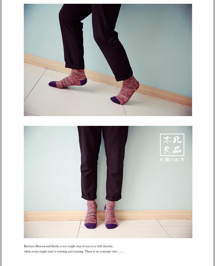 10Pairs/Lot New men's yarn in the classic style of the tube socks, cotton socks, men socks