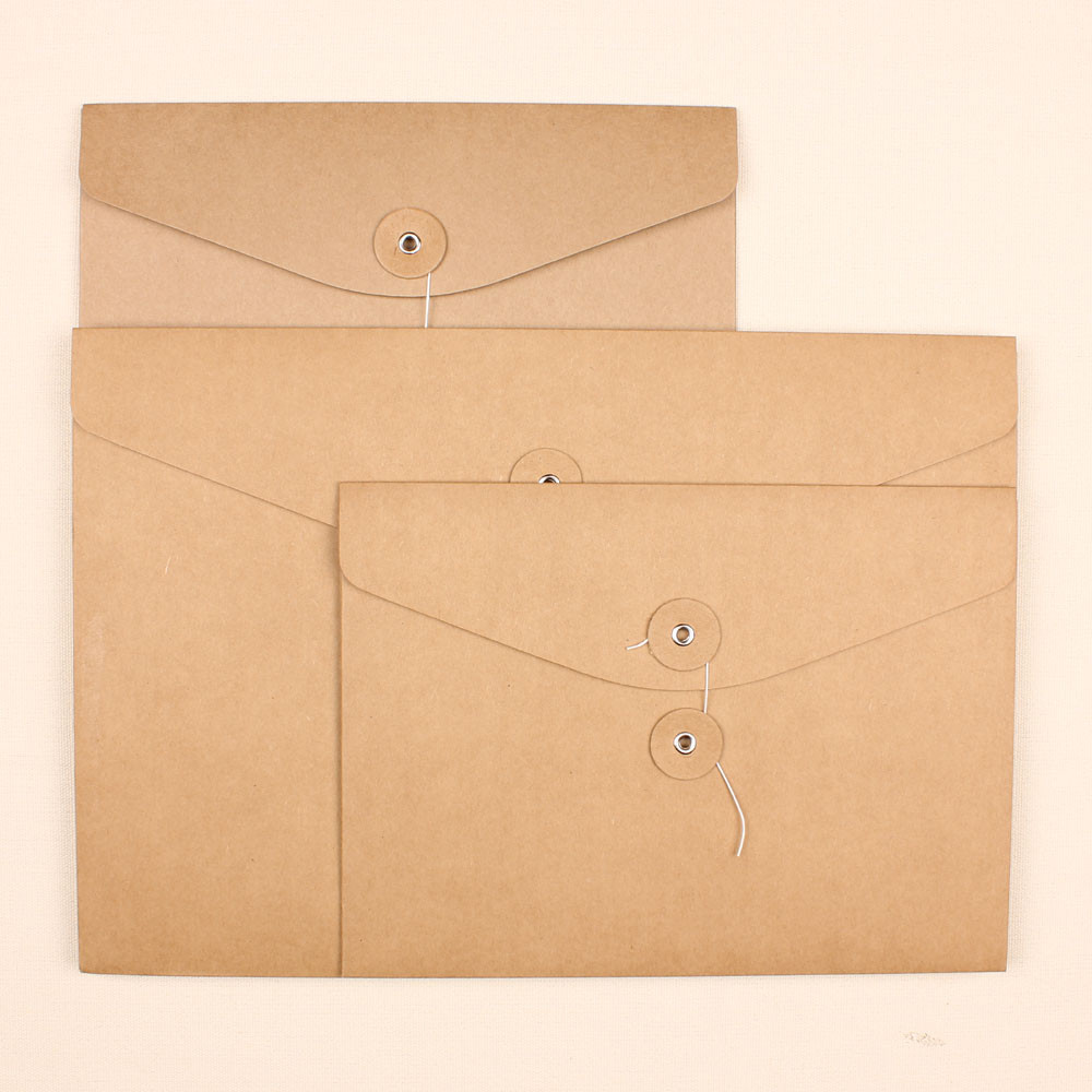 23.8*17.5cm Brown Retro Kraft Paper Filing Paper Bag File Packet Pocket Small A5 Document Pouch Holder Packing File Storage Bags<br><br>Aliexpress