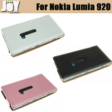Free shipping mobile phone bag genuine leather flip case cover for Nokia Lumia 920 mobile phone accessories two colors