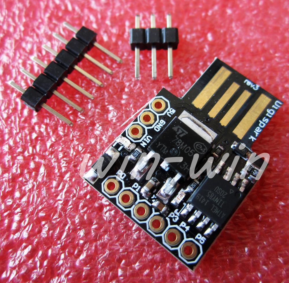 Электронные компоненты Digispark Kickstarter USB ATTINY85 micro usb digispark pro development board kickstarter attiny167 for arduino