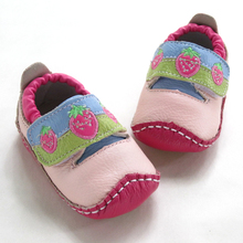 Pink genuine leather quality toddler shoes leather baby shoes 1 - 1(China (Mainland))