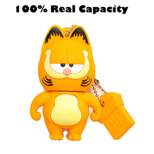 Cute Cartoon Garfield USB Flash Drive 4gb 8gb 16gb 32gb 64g Pen Drive USB 2.0 Memory Stick U Disk Flash Pendrive