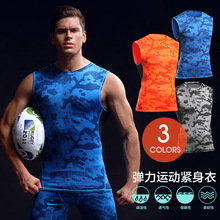 Buy Breathable Quick Dry Men's Sporting Vest Clothing Compression Tank Top Workout Tight-fitting Clothes Sportwear for $9.68 in AliExpress store