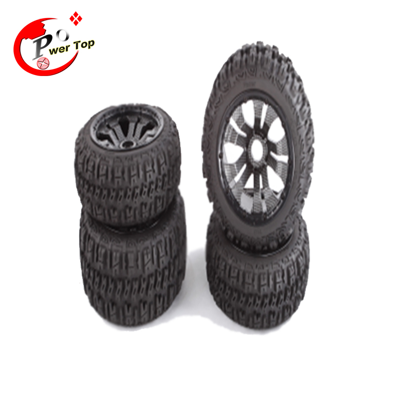 King Motor Baja Pioneer tire with carbon Poison rim black beadlock For HPI Baja 5B Parts Rovan Free Shipping<br><br>Aliexpress
