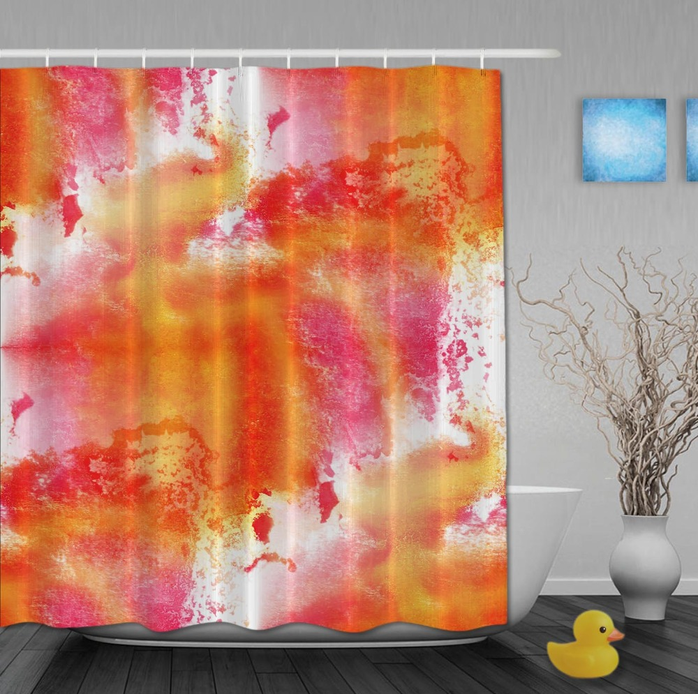 Popular Orange Shower Curtain Buy Cheap Orange Shower Curtain Lots From China Orange Shower