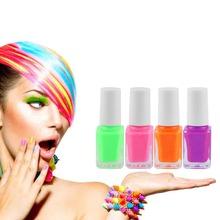 New Candy color Glow in Dark Fluorescent Varnish Luminous DIY Nail Gel Polish Nail Art Manicure tool Hot!(China (Mainland))