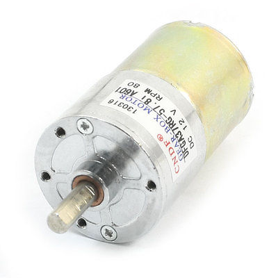 DC 12V 80RPM Metal Shell Electric Tool Spare Parts DC Gear Box Motor ZMM(China (Mainland))