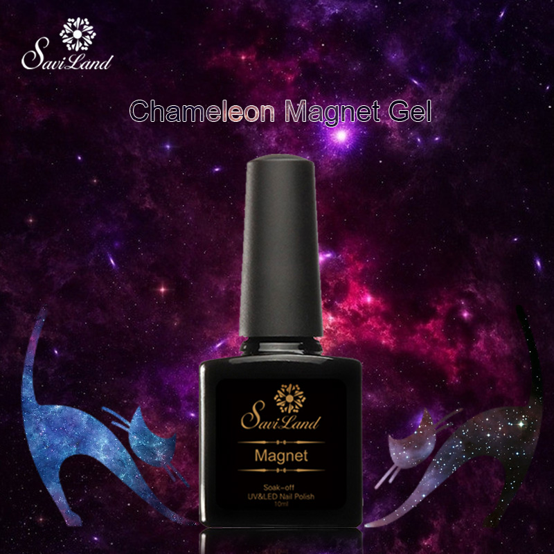 Saviland 1pcs Chameleon Cat Eyes Magnetic Gel Nail New Arrival 10ml 24 Colors Phantom UV Vernis Gel Nail Polish(China (Mainland))