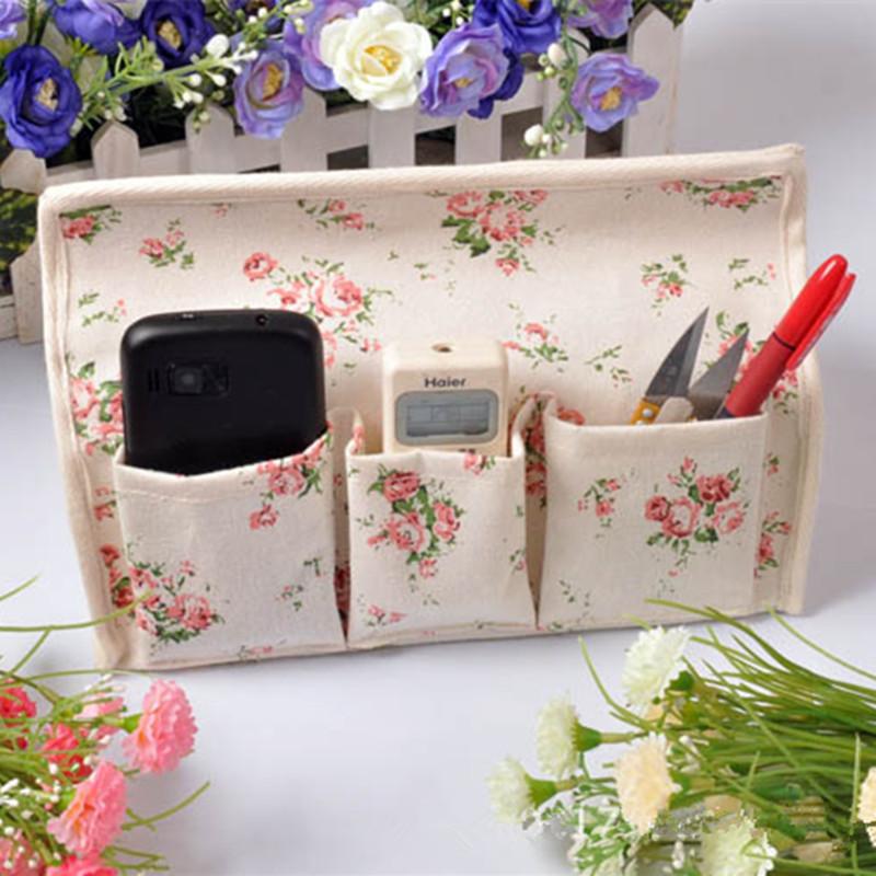 Floral Sundries storage bag folding Table organizer Creative Sorting Box Cotton Linen storage box Waterproof Tissue Box(China (Mainland))