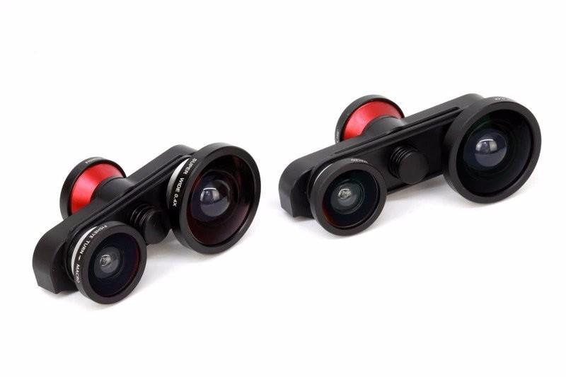 Detachable Professional 4 in 1 Fish Eye Macro Super Wide Self-timer Fisheye Mobile Phone lenses Kit Camera