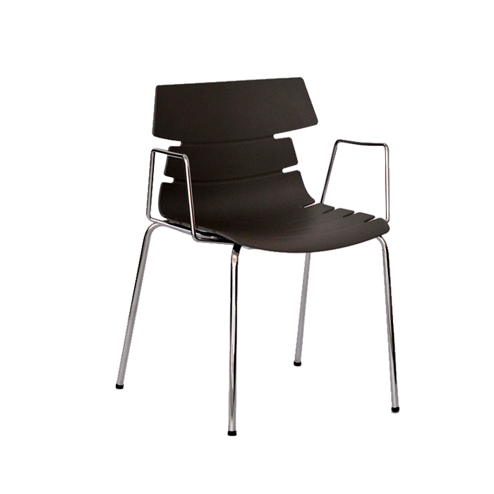 Cheap Authentic hotel modern minimalist fashion plastic outlet stainless steel handrails Nordic utility Chair Lounge Chair(China (Mainland))