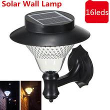 1X Outdoor Garden/Yard/Path/Patio Solar Wall Light Popular Solar lamp 3x1200mAh Ni-MH Battery Solar Lamp Decoration wall lampada(China (Mainland))