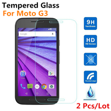 Tempered Glass For Motorola Moto G3 3rd Gen 2015 G 3 Screen Protector New HD Clear Front Guard Protective Film, + Retail Package(China (Mainland))