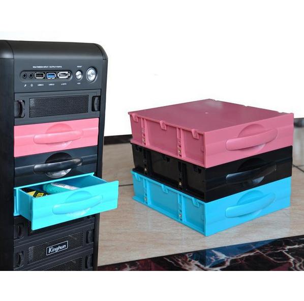 "2PCS/lot Desktop computer ATX/MATX hard drive mobile blank rack drawer tray storage case / box (5.25"") Black(China (Mainland))"