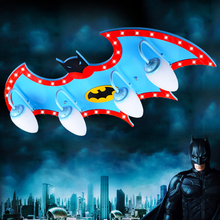 remote control kids led lamp child ceiling light personality superman child ceiling light boys bedroom batman eye protect lamp(China (Mainland))