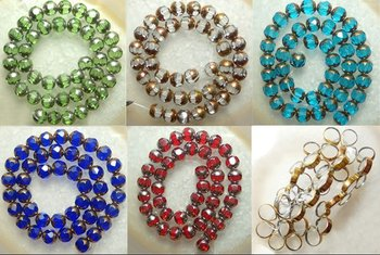YA0199 On sale 1strand start Glass Lampqork Faceted Round/Drop Loose Beads
