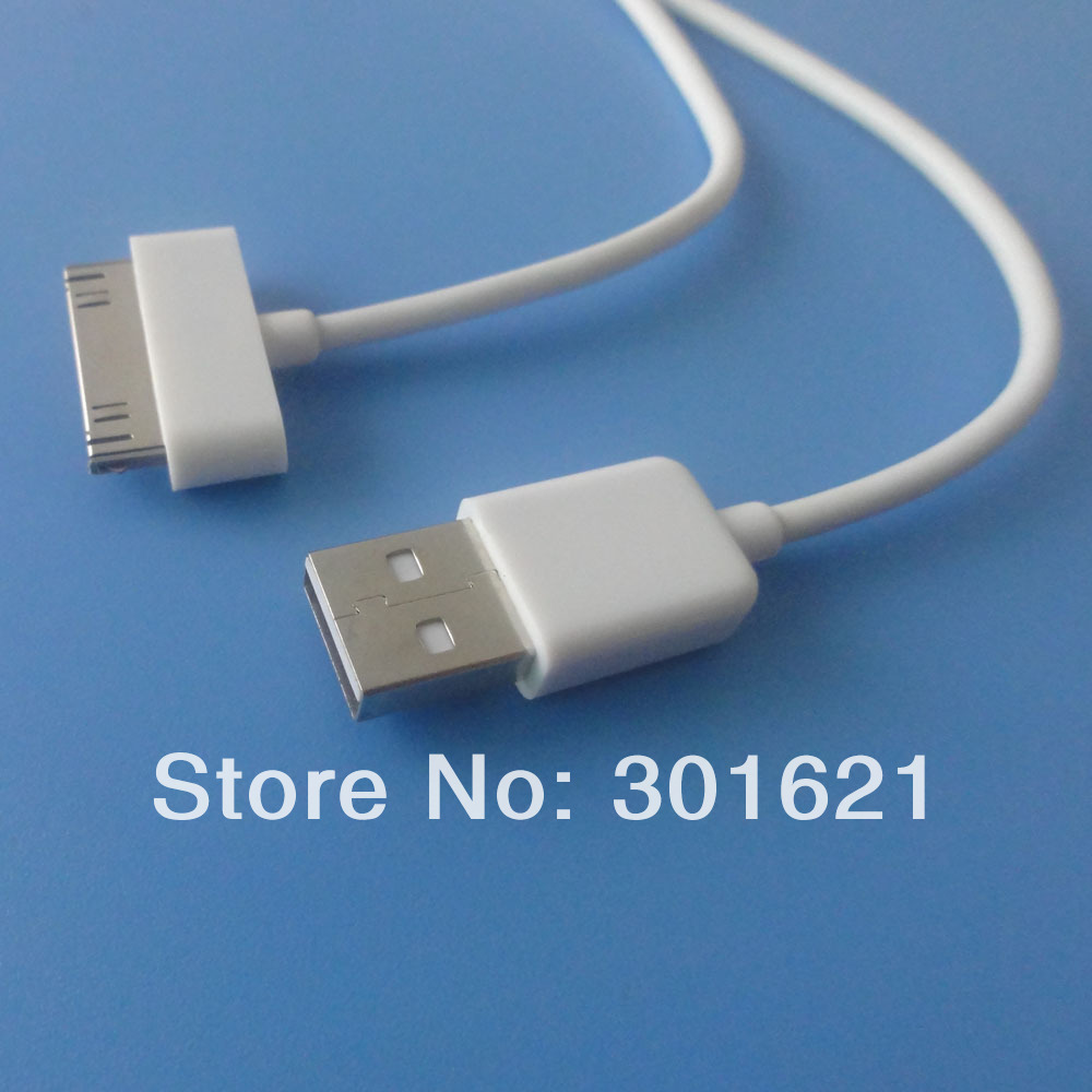 2pcs 1m 3ft USB Charging Data Sync Cable for iPhone 4(China (Mainland))