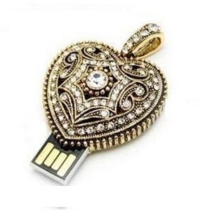 Best Selling 100pcs/lot  popular beauty crystal heart Jewelry usb flash drive Usb 2.0 4gb 8GB 16GB 32GB 64GB Pen drive <br><br>Aliexpress