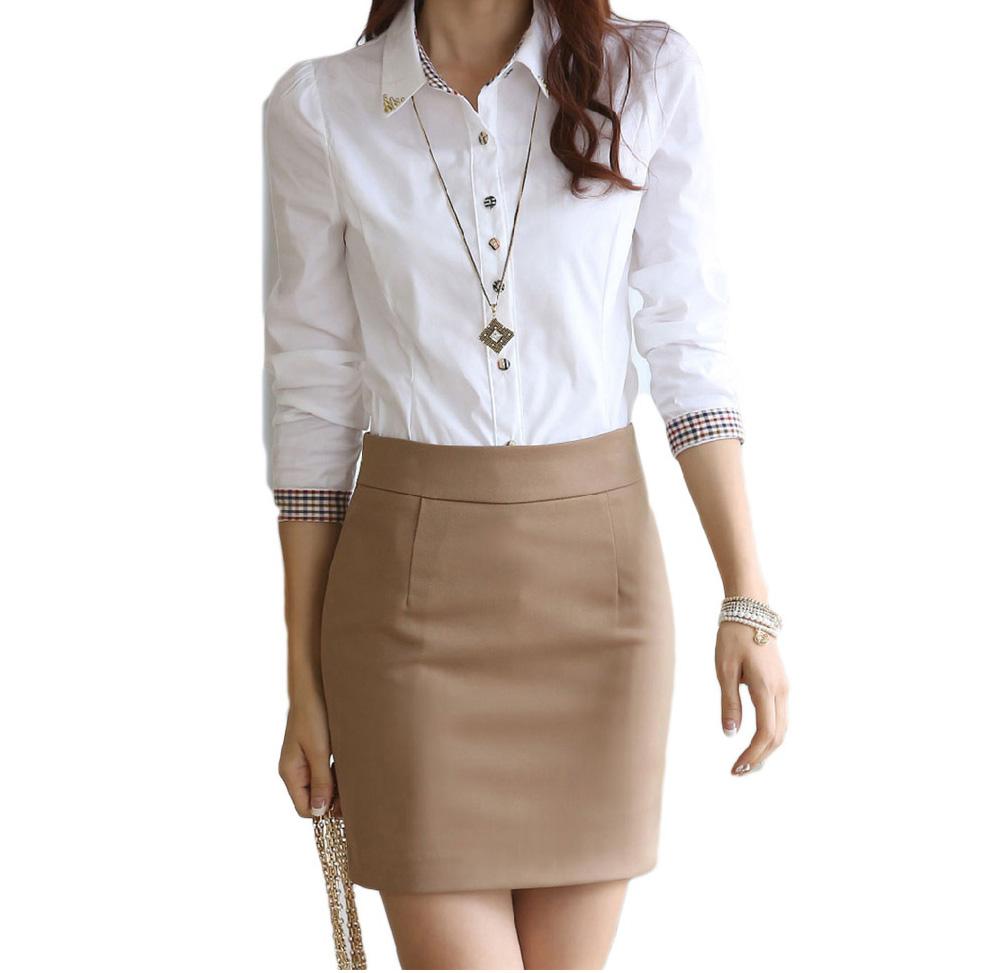 Women Classic Long Sleeved Button Down Shirts For Women