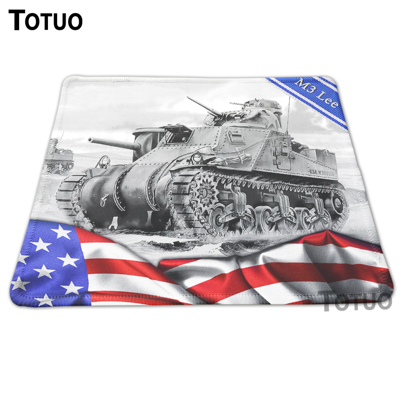 New Arrival Natural Rubber Anti-slip Mouse Mat Tank Of World Style Gaming Mousepad PC Loptop Computer Desk Mice Pads Speed Mats(China (Mainland))