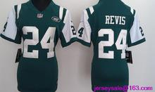 2016 Women New York Jets #15 brandon marshall #24 Darrelle Revis 87 Eric Decker Green white()