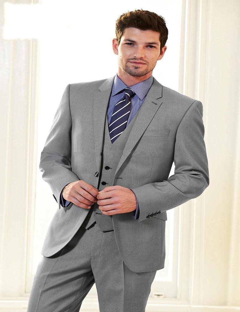 3 Button Mens 3 Piece Suits Grey Promotion-Shop for Promotional 3