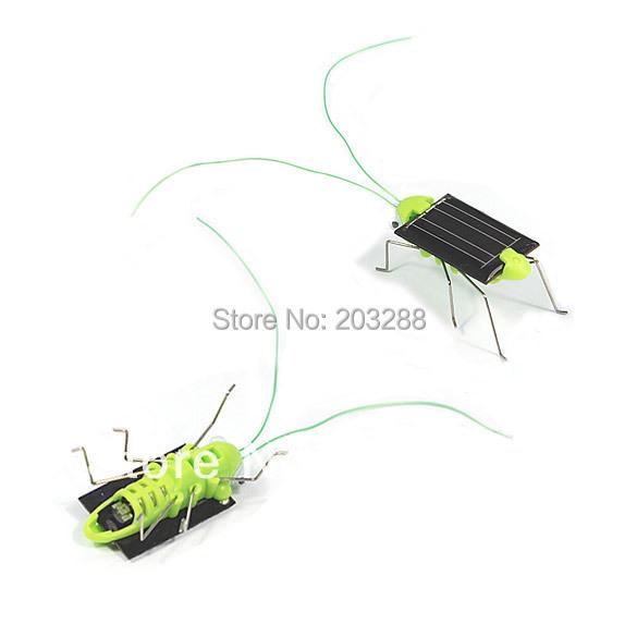 Solar Power Toy Energy Crazy Grasshopper Cricket Kit christmas gift Toy Free Shipping Mail EMS DHL(China (Mainland))