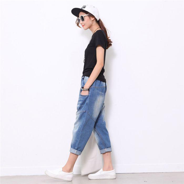 Gros Jeans Femmes Lâche Baggy Bleu En Plus Acheter Summer Taille La 7w5URHqq