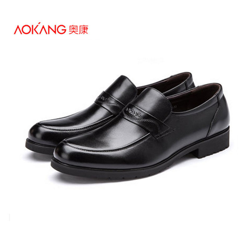 Aokang men's business formal leather genuine leather the first layer of leather shoes fashion male foot wrapping shoes(China (Mainland))