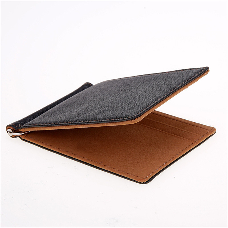 Hot Saleing 2015 Men Wallet Short Skin Wallets Purses Fashion Synthetic Leather Money Clips Sollid Thin Wallet For Men(China (Mainland))