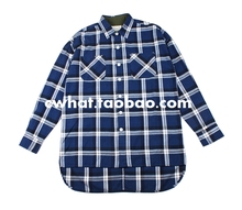 new high street fog extened fancy mens dress shirts hawaiian shirt justin bieber men clothes 2016 tartan clothing blue plaid