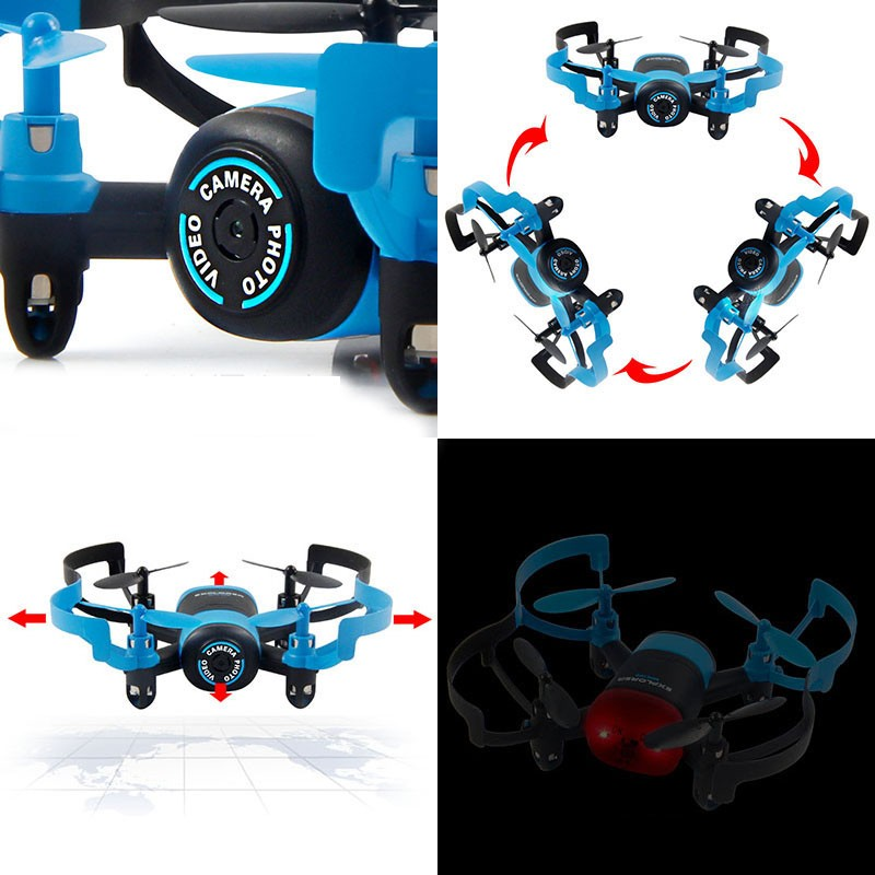 New Arrival  JXD 512V MIni RC Camera Drone With 3D Roll UFO One-Key-return & Headless Mode RC Quadcopter Drone For Children Gift