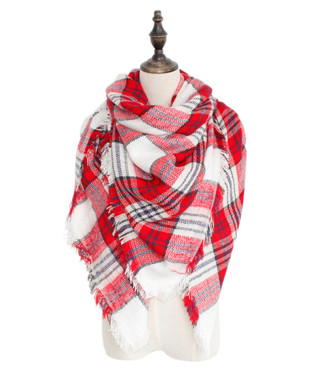 Free Shipping Stylish Designer Wool Plaid Shawl Prime Cozy Warm Material For 2016 Winter And Fall
