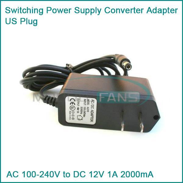 Гаджет  AC 100-240V to DC 12V 1A 1000mA Switching Power Supply Converter Adapter US Plug None Электронные компоненты и материалы