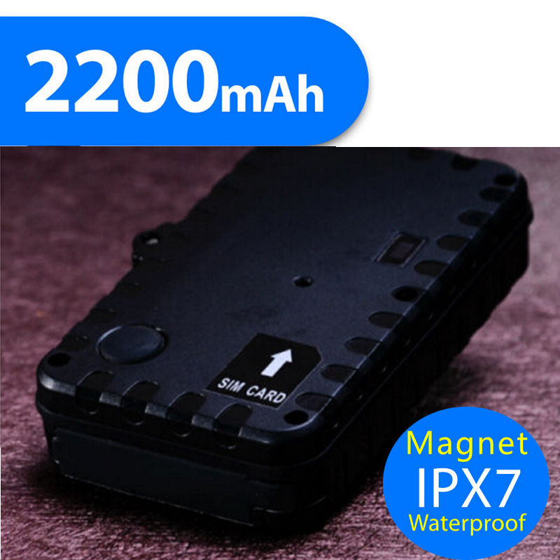 Strong Magnetic Mini Global Real Time GSM/GPRS vehicle gps Tracking device 2200mAh battery Locator Device(China (Mainland))