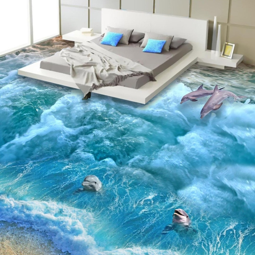 Buy floor wallpaper 3d fashionable for Beach design