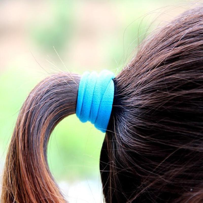 10pcs Mix Colors Baby Girls Kids Children Elastic Hair Ties Bands Rope Ponytail Holders Headband Scrunchie Hair Accessories(China (Mainland))