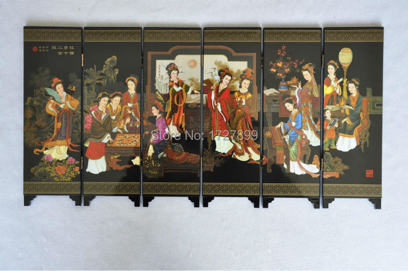 2015 New Chinese Folding Screen Decorative Crafts Retro