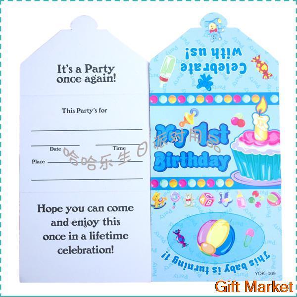 birthday invitation cards for  year old baby boy  invitations ideas, invitation samples