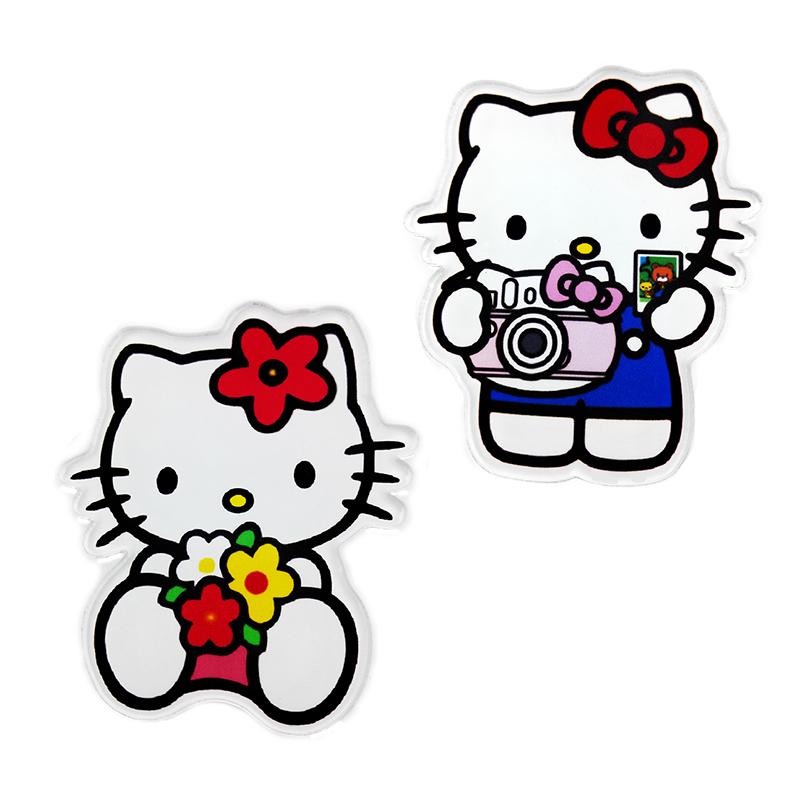 Brooch Pins 2pcs/lot Big Fashion Good quality Women Trendy girls Brooches Acrylic animal CAT hello kitty Cute Brooch Pins(China (Mainland))