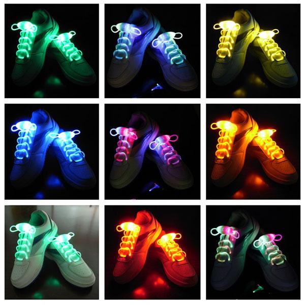 Party Skating Charming LED Flash Light Up Glow Shoelaces Shoe Laces Shoestrings(China (Mainland))