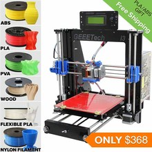 6 Materails Supported High Precision Reprap Prusa i3 LCD Acquired DIY 3d Printer Kit with a Roll Filament for Free