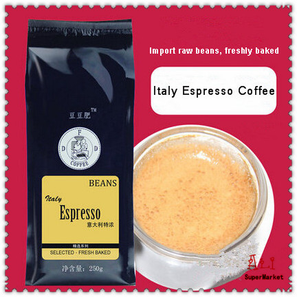 New 2015 AA Level Fatty Italian Espresso Coffee Beans Cooked Coffee Bean Fresh Baked Slimming Coffee
