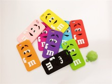 Free shipping 3D Fashion Cartoon M&M'S Chocolate Rainbow Beans soft cover silicon material phone case for iphone6 6plus 4.7/5.5