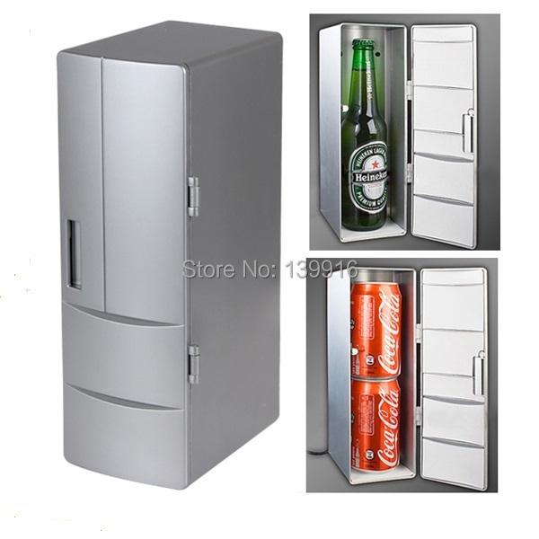 Portable Mini USB Fridge Cooler Mini USB PC Refrigerator Beverage Drink Cans Freezer for Home New Cool Gadget(China (Mainland))