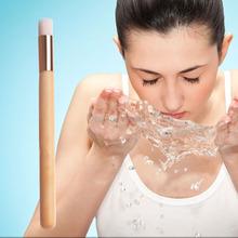 Long Handle Professional Raw Wood Cosmetic Makeup Nose Clean Brush