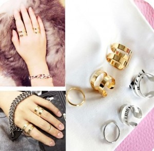 3Pcs Set Hot Cute Fashion Gold Silver Plated Top Of Finger Over The Midi Tip Finger